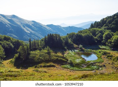 Amazing landscape near Pesica lake, in Bjelasica mountains, Montenegro