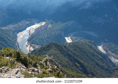 Amazing Landscape of Nestos River Gorge near town of Xanthi, East Macedonia and Thrace, Greece - Shutterstock ID 1122071339