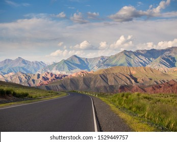 Amazing landscape in Pamir. Road in mountains