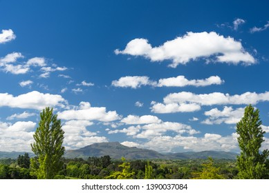 Amazing landscape of the Rhune mountain  shaped with an amazing sky. Basque country of France.