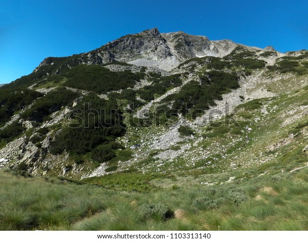 Amazing Landscape from Route to climbing a Vihren peak, Pirin Mountain, Bulgaria