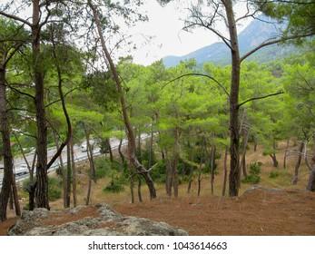 Amazing landscape scenery in Southern Turkey (Asia Minor or Anatolia)