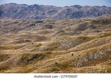 Amazing landscape in Sinjajevina mountains, Montenegro