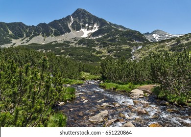 Amazing Landscape of Sivrya peak and Banski lakes, Pirin Mountain, Bulgaria