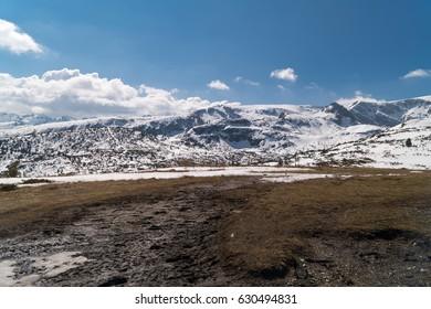 Amazing Landscape of Spring Mountains Near The Seven Rila Lakes, Bulgaria