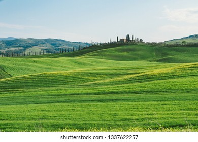 Amazing landscape of Tuscany countryside in Italy