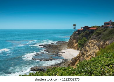 Amazing Landscape View on the West Coast of USA, Pacific Ocean, the City of Laguna Niguel, California, USA