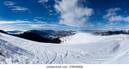 Amazing landscape in Vigla, Florina's ski center, Greece