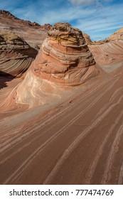 Amazing landscape of The Wave, Rock desert, in Arizona