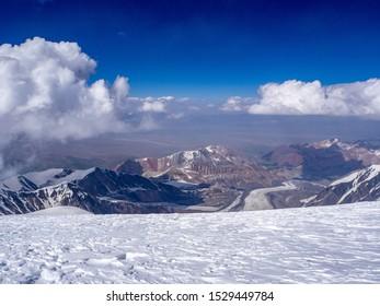 Amazing lanscape. Pamir mountains Lenin glacier