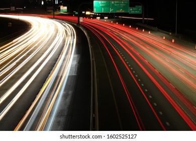Amazing long exposure of heavy traffic in Farmington utah!