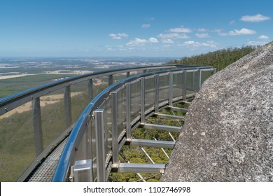 Amazing lookout on Castle Rock, highlight within the Porongurup National Park close to Albany, Western Australia