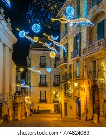 "The amazing ""Luci d'Artista"" (artist lights) in Salerno during Christmas time, Campania, Italy."