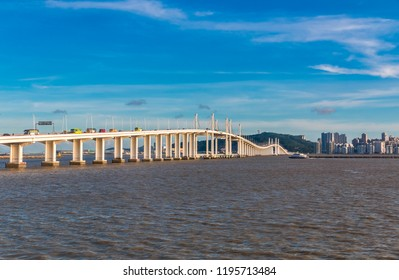 The amazing Macau-Taipa Bridge (aka Amizade Bridge or Friendship Bridge) is iconic in Macau and leads to Taipa and the Cotai Strip where all the casinos are. It is a very busy transportation route.