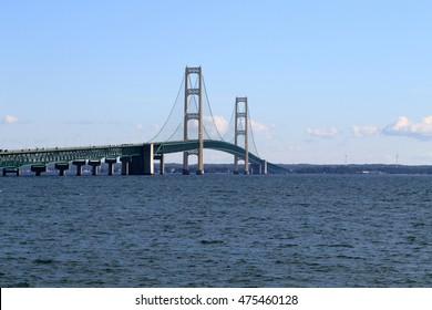 The amazing Mackinac Bridge connecting the mainland to the Upper Peninsula in Northern Michigan.