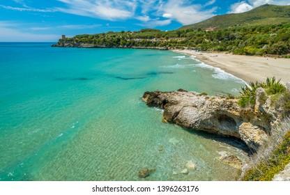 Amazing mediterranean landscape at Marina di Camerota, Cilento, Campania, southern Italy.