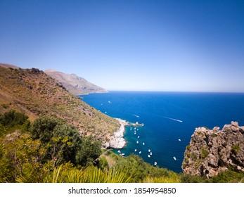 """Amazing mediterranean landscape of the """"Riserva Naturale orientata dello Zingaro"""" in Sicily"""