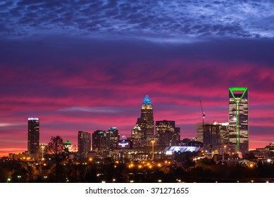 An amazing morning in Charlotte, North Carolina. The colors in the sky were amazing and made the city that much more beautiful the week before the Super Bowl.