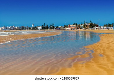 Amazing Morocco, incredible Essaouira city,  March month, city beach