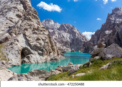 Amazing mountain lake Kelsuu, Kyrgyzstan