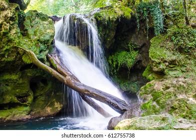 Amazing mountain waterfall