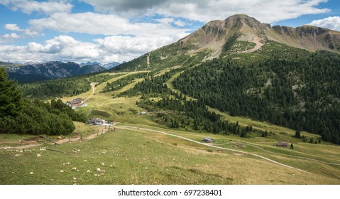 Amazing mountains summer landscape in Dolomites, South Tyrol, Italy. The Oclini Pass, northern Italy.