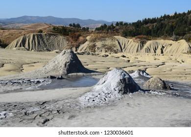 Amazing mud vulcano
