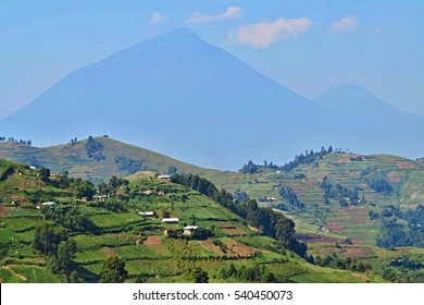 Amazing nature in african congo, wild and nature in africa, beautiful landscape view, green jungle and mountains