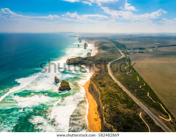 Amazing Nature of Twelve Apostles by the Great Ocean Road in Australia.