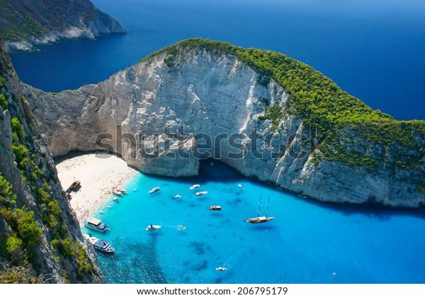 Amazing Navagio Beach auf der Insel Zakynthos, Griechenland