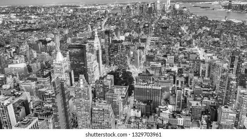 Amazing New York skyline at night.