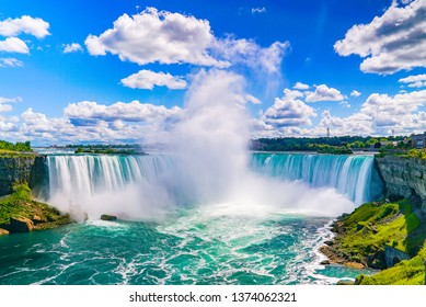 The amazing Niagara Falls is renowned for its beauty and is the collective name for three waterfalls that straddle the international border between Canad and the USA. It is a must see destination!