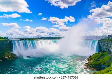 The amazing Niagara Falls is renowned for its beauty and is the collective name for three waterfalls that straddle the international border between Canada and the USA.