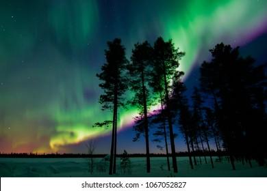 Amazing night in Finnish Lapland