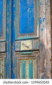 amazing old wooden door from egypt at a salvage yard