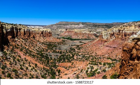 Amazing panorama from Kitchen Mesa Trail, Ghost Ranch, New Mexico, United States