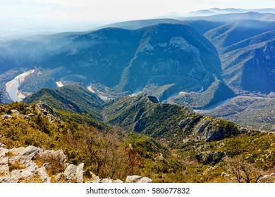 Amazing Panorama of Nestos Gorge near town of Xanthi, East Macedonia and Thrace, Greece - Shutterstock ID 580677832