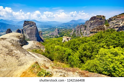 The Amazing panorama on the valley of the monasteries of Meteora, Greece