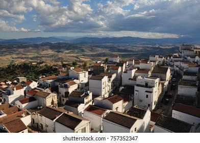Amazing Panorama in town of pisticci in south Italy, region of Basilicata