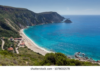 Amazing Paorama of Petani Beach, Kefalonia, Ionian Islands, Greece