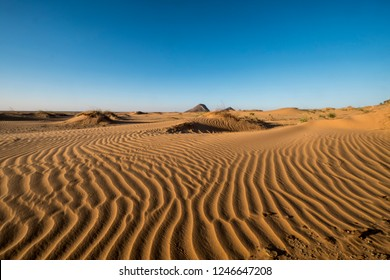 amazing Patterns of wind at sand dune in Sahara desert