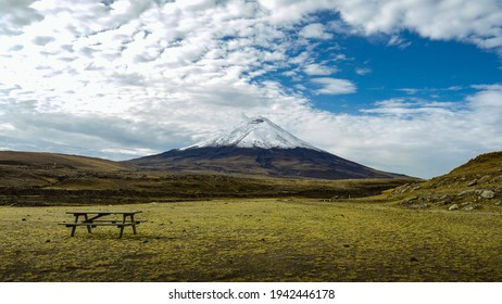 Amazing picture from the Cotopaxi volcano in Ecuador. south america is just amazing. unique colors in the andes montains. peaceful holiday place