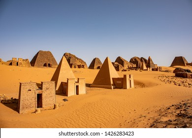 The amazing pyramids of Meroe north of Khartoum in Sudan