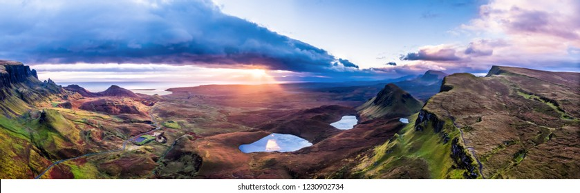 The amazing Quiraing during sunrise- Isle of Skye - Scotland.