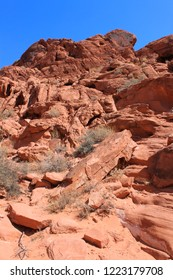 Amazing red rock formations at Valley of Fire State Park in Nevada