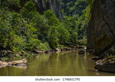 Amazing river Jerma that flows through Serbia and Bulgaria. Captured at village Vlasi.  - Shutterstock ID 1748651795
