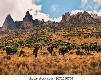 Amazing rock formations on Sirmon Route, Mount Kenya, Mount Kenya National Park
