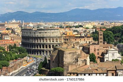 The amazing Rome skyline is incredible.