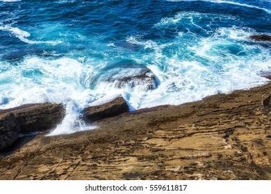 Amazing San Sebastian coastline landscape, Spain.