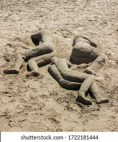Amazing sand sculptures at the beach